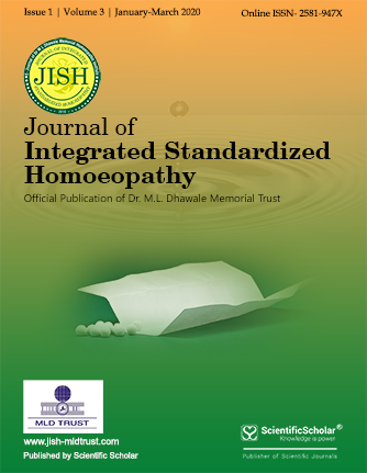 Journal of Integrated Standardized Homoeopathy